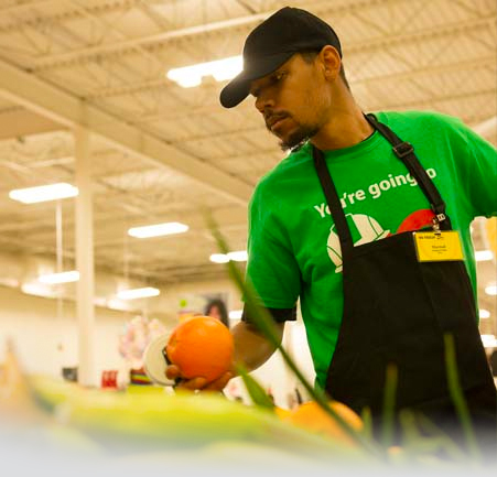 SpartanNash food processing associate at work